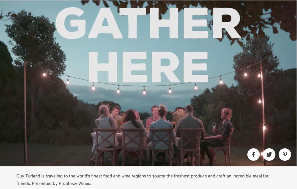 una delle serie di Tastemade, Gather here