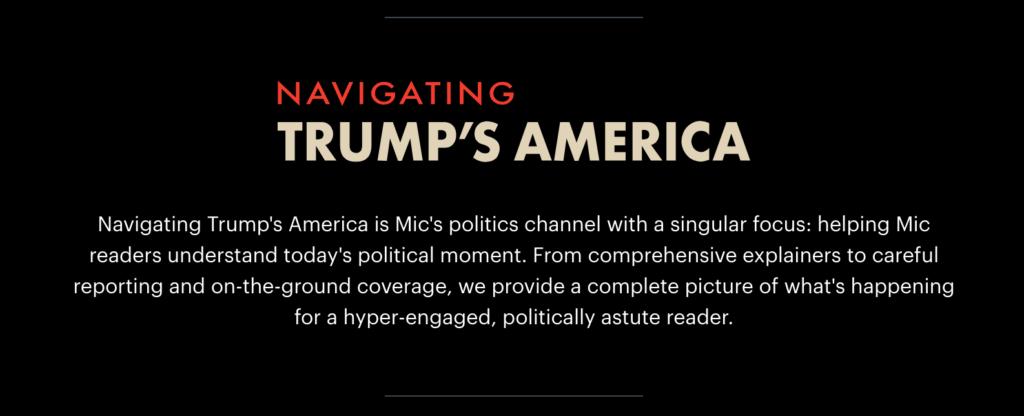 Navigating trum's america di Mic